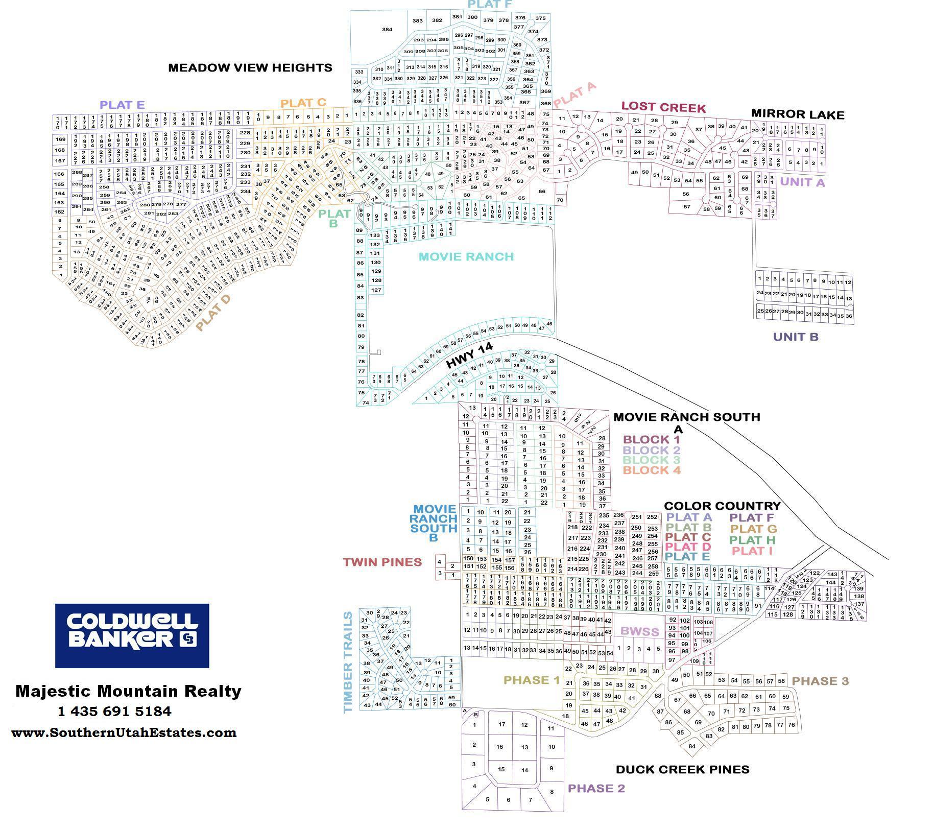 Duck Creek Village Utah >> Southern Utah Real Estate, Area Maps For the Cedar City area mountains